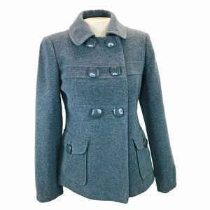 Nygard Gray Wool Cashmere Blend Pea Coat 6